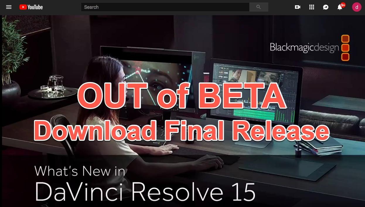 davinci resolve 15 studio beta activation key